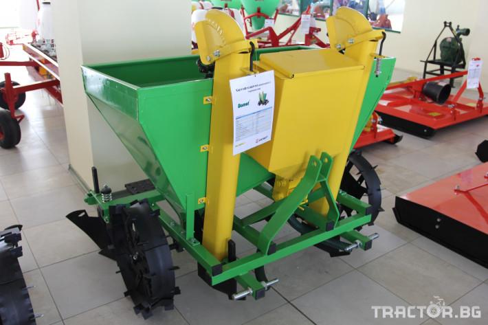 Машини за зеленчуци Картофосадач дву-редов с торовнасяне - ПОЛСКИ 1 - Трактор БГ