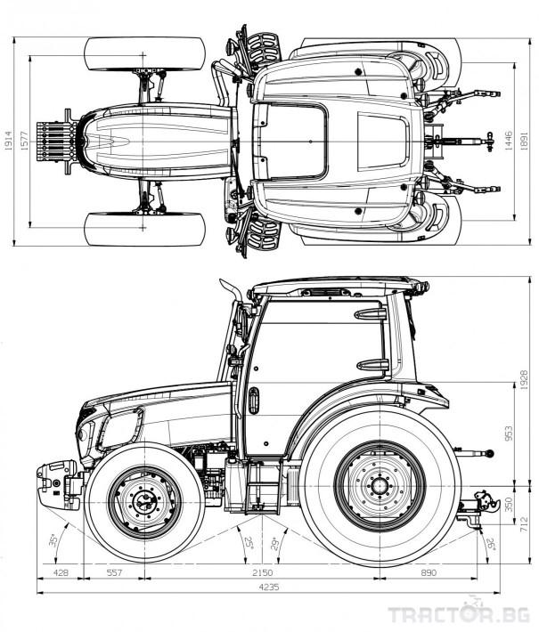 Трактори LS MT 5.73 *Нов*Климатик*Крийпър*20х20 скорости*Mitsubishi двигател 73 HP* 1 - Трактор БГ