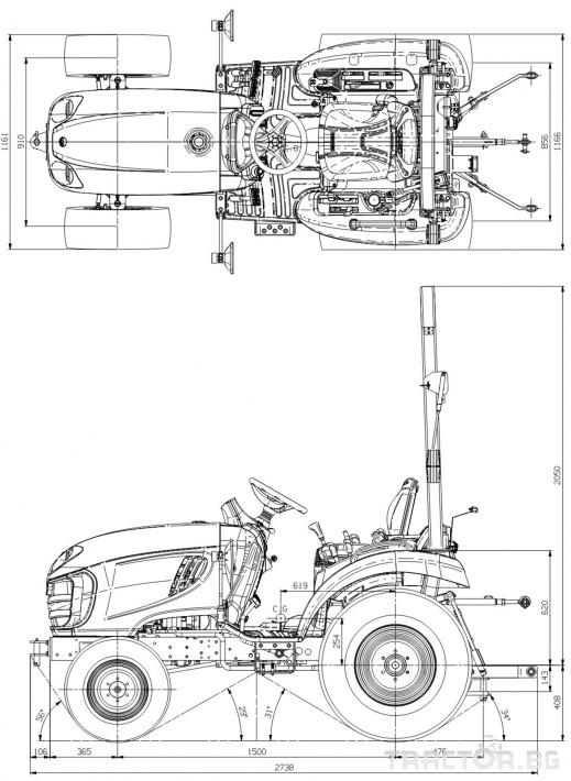 Трактори LS J 27 *Нов*Компактен трактор*Mitsubishi двигател* 1 - Трактор БГ