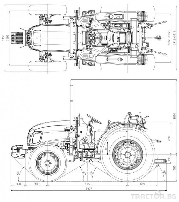 Трактори LS R 50 *Нов*Реверс*16х16 скорости*Mitsubishi двигател 50 HP* 1 - Трактор БГ