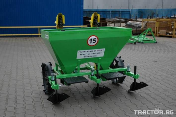Машини за зеленчуци Картофосадач дву-редов с торовнасяне - ПОЛСКИ 5 - Трактор БГ