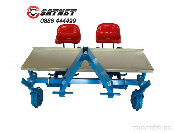 Машини за зеленчуци Разсадо-посадъчна машина дву-редова  - ПОЛСКА 1 - Трактор БГ