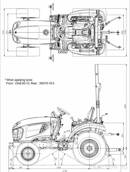 Трактори LS XJ 25  *Нов*Компактен трактор*Mitsubishi двигател* 2 - Трактор БГ